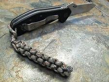 DESERT CAMO 550 PARACORD BOX KNIFE LANYARD SILVER BEAD AMERICAN MADE