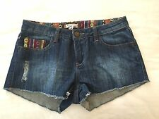 Forever 21 XXI Womens Shorts Cut Off Factory Distressed Tribal Aztec 26 SM/MED