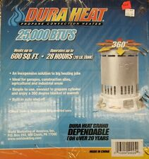 Dura Heat propane convection heater space heater 360° heating radius no electric