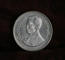 1986 King Bhumibol Adulyadej Rama IX Thailand 600 Baht Silver Coin ASEAN Orchid