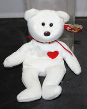 Ty Valentino White Bear Brown Nose - Retired