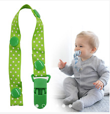 Pacifier Nipple Holder Leash Strap Chain Clip Color Green