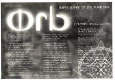"21/1/95PGN43 ADVERT 5X7"" THE ORB HAPPY HAPPY JOY JOY TOVR 1995"