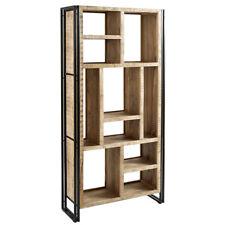0281d8e7b878 Vintage Industrial Solid Reclaimed Wood Bookcase Shelves Metal Frame  Furniture