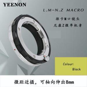 YEENON LM-NZ Leica M  VM  to Nikon Z camera  Close Focus adapter Black(macro)