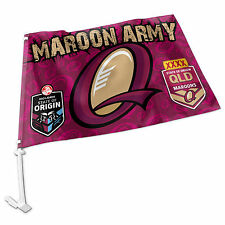 NEW 2018 State of Origin QLD Queensland Maroons CAR FLAG Man Cave Fathers Day