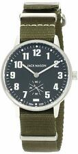 NEW JACK MASON Field Camp Army Green Nylon Band WATCH Quartz JM-F401-003