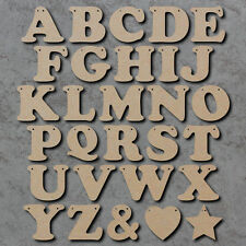Wooden Letter Bunting Alphabet - Price Per Letter - Laser Cut mdf Craft Shapes