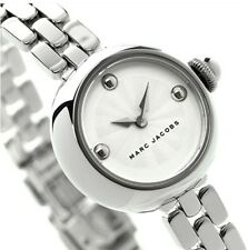 WOMEN'S MARC JACOBS COURTNEY STAINLESS STEEL WATCH MJ3456 SILVER DIAL FACE BAND