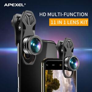 APEXEL APL-DG11 Universal Professional HD Phone Camera Lens Kit 11in1 Micro J3N3