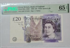 2006 GREAT BRITAIN 20 Pounds PMG65 EPQ GEM UNC {P-392a} 'Bailey'