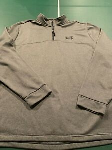 Under Armour UA Long Sleeve Cold Gear 1/4 Zip Pullover Loose Fit Men's Size 3XL