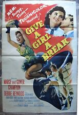 "GIVE A GIRL A BREAK US One sheet 27""X41 Original 1 Movie Poster Film 1956 VF C8"