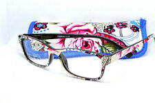 Women's 1.50 Blue Flower Fashion Reading Glasses (Pink Rose Edition)