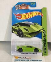 Lamborghini Sesto Elemento #198 * GREEN * 2015 Hot Wheels * NC21