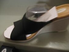 DR. SCHOLL'S BLACK FABRIC WEDGES * 7 B * BRAND NEW! So cute!