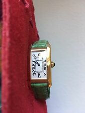 Cartier 18K Yellow Gold Tank Americaine  Deployant Clasp Lady's Quartz Watch