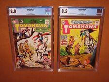 Tomahawk #81 CGC 8.0 + Tomahawk #88 CGC 8.5 1st TWO Miss Liberty! Insured 12 pix
