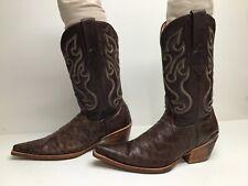 New listing Vtg Womens Los Altos Snip Toe Cowboy Anteater Print Brown Boots Size 7 M