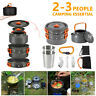 8X Outdoor Cooking Camping Kettle Pan Pots Cup Cook Set For Camp Fishing Travel