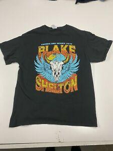Blake Shelton Friends And Heros 2019 T Shirt Unisex Size Large Black Concert