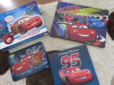 Disney Cars 2 LED Wall Canvas Lightning Mcqueen 4 Piece set