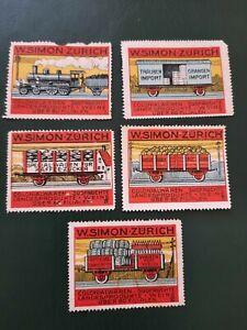 Poster stamps Trein Train: W.Simon Zurich
