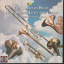 """THE CANADIAN BRASS CD: """"HIGH, BRIGHT, LIGHT & CLEAR"""" 1983"""