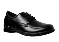 Mens Grosby Beckett Black Laces Work Formal Dress Comfortable Classic Shoes