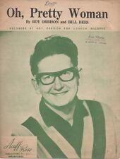 "ROY ORBISON  Rare 1964 Aust Only OOP Original Pop Sheet Music ""Oh, Pretty Woman"""