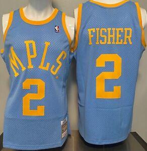 DEREK Fisher 2001-02 MPLS LA Lakers Mitchell & Ness SWINGMAN Jersey Size S-XXL