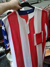 Camicia bandiera americana usa mare cotone rayon come parei mare taglia unica