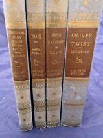 1932 OLIVER TWIST THAIS ANNA KARENINA OPIUM  Book Illustrated edition set of 4