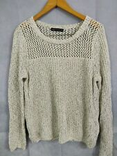 Womens Marks And Spencers Jumper Knitwear Cream Size 16
