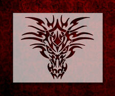 "Tribal Dragon Face 8.5"" x 11"" Stencil FAST FREE SHIPPING (595)"