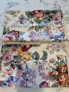 RALPH LAUREN Vintage Floral ALLISON Pillowcases, Lot of 2, Standard Size, Roses