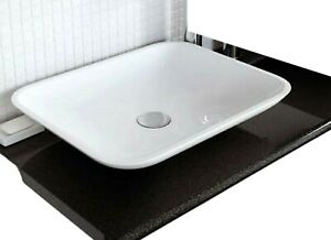 CEDRUS RESIN BASIN SINK WHITE WASH BOWL COUNTER TOP (W)499 x (H)92 x (D)399mm