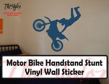 Motor Bike Handstand Stunt Vinyl Wall Sticker
