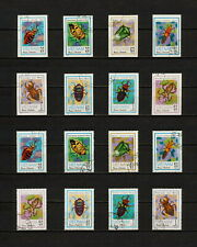 (YYAZ 624) Vietnam 1982 IMPERF + Perf NH Mich 1258 -65 Scott 1221 -28 Insects