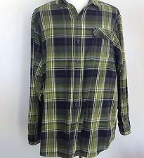 Columbia Herren XXL Omni-WIX Langarm grün Plaid Flannel Shirt