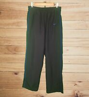 Nike Men's Black Athletic/Jog Pants Blue Trim! Elastic Waist w Drawstring. Sz L