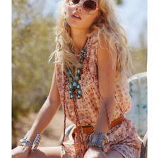 Spell VINTAGE Desert Rose Midi Dress in Sand - Size S