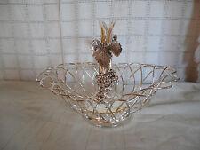Godinger silver wire basket w/grape design Lovely!