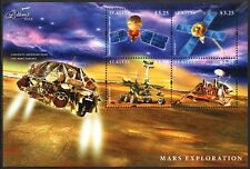 Mars Exploration de surface/Curiosité/Mariner 7/viking/Rover Space STAMP SHEET