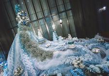 "3D Flowers Bridal Lace Fabric Chiffon Fabric 59"" Wide for Wedding Dress 0.5 Yard"