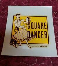 Vintage Water Slide Decal SQUARE DANCER 1950's 60's