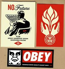 OBEY - OBEY No Future & hands - 3  STICKERS  SHEPARD FAIREY mint