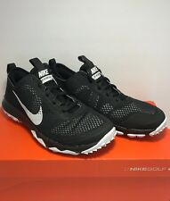 $140 Nike Mens Size 8 Golf Fi Bermuda Soft Spike Spikeless Black Golf Shoes