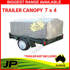 1x TRAILER CANOPY CANVAS SUIT 7 X 4 TRAILER GREY EASY FIT FRAME, DURABLE