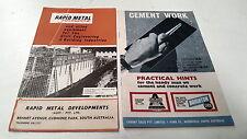 1960s ? RAPID METAL  FORMWORK & Cement Work Brochures